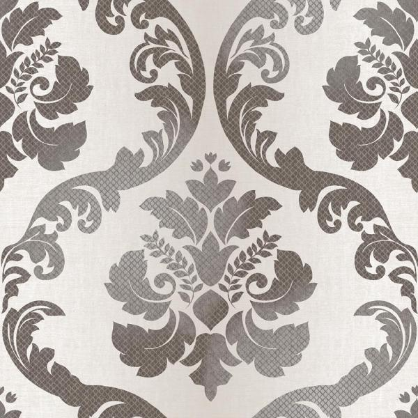 Chesapeake Delilah Champagne Tulip Damask Wallpaper Sample VIR98226SAM