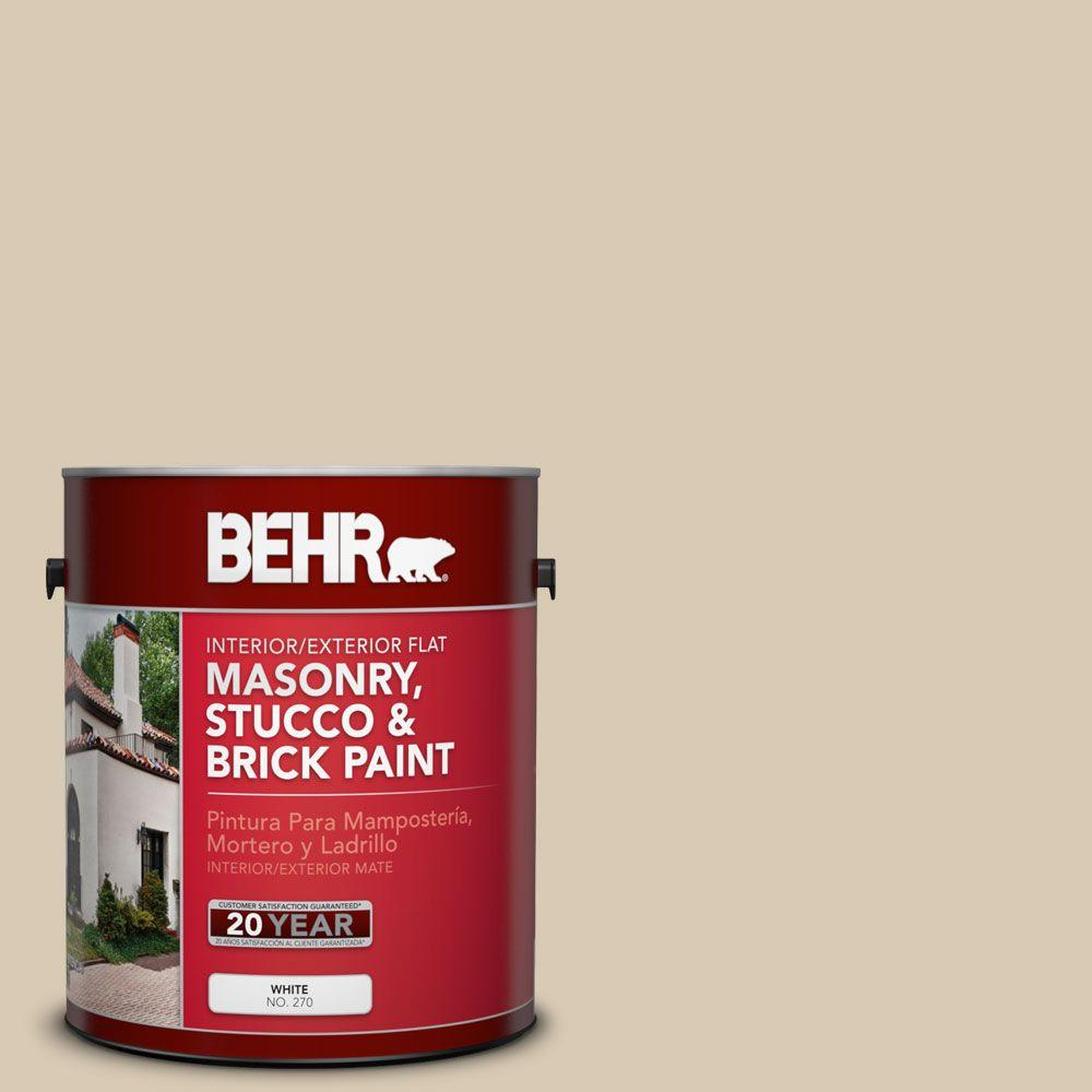1 gal. #MS-41 Sandstone Beige Flat Interior/Exterior Masonry, Stucco and Brick