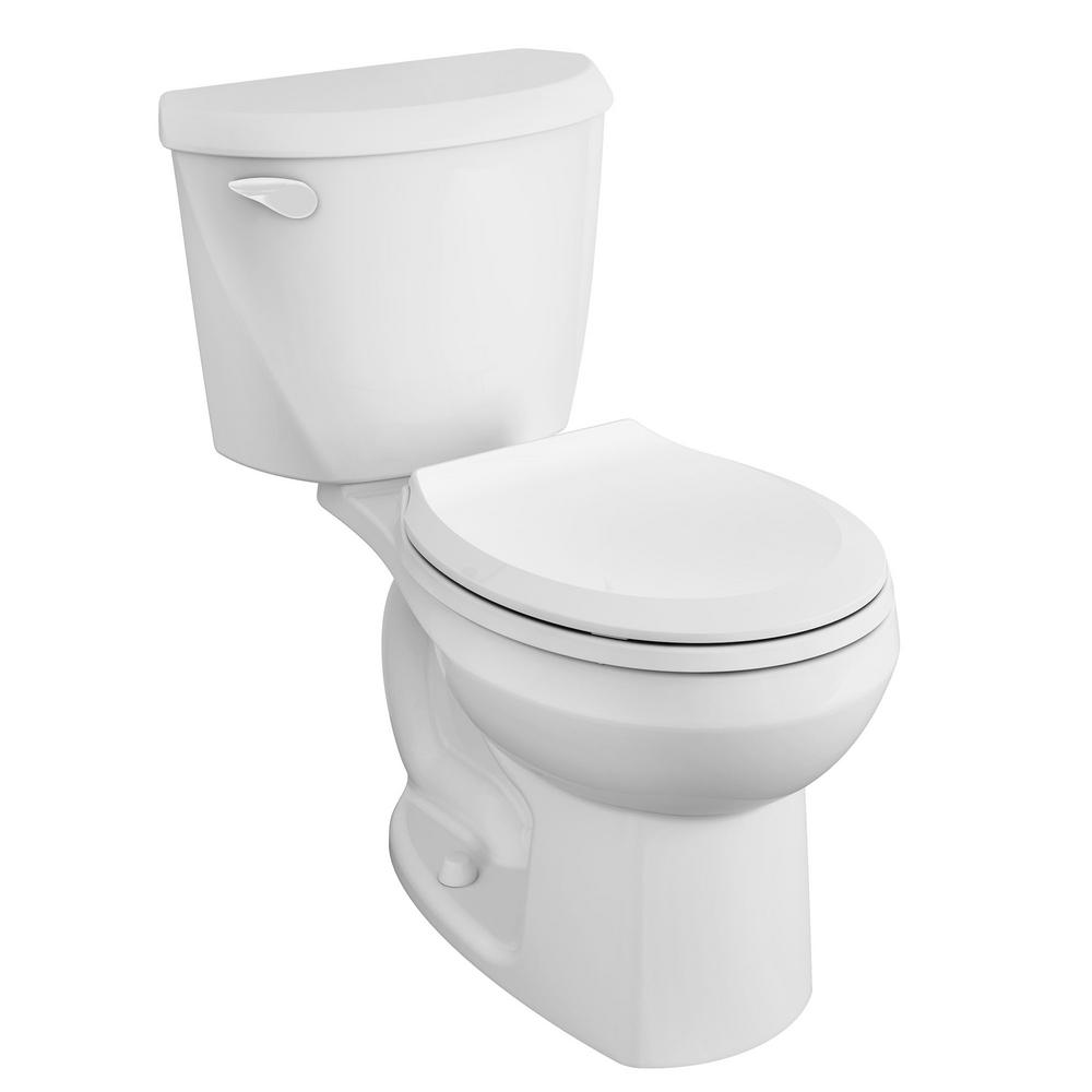 AmericanStandard American Standard Reliant Complete 2-Piece 1.28 GPF Single Flush Round Toilet in White