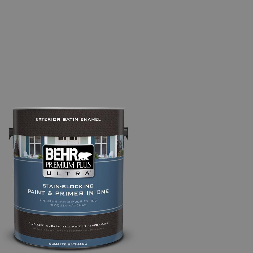 gray paint home depotBEHR Premium Plus Ultra 1 gal PPU2604 Falcon Gray Satin Enamel