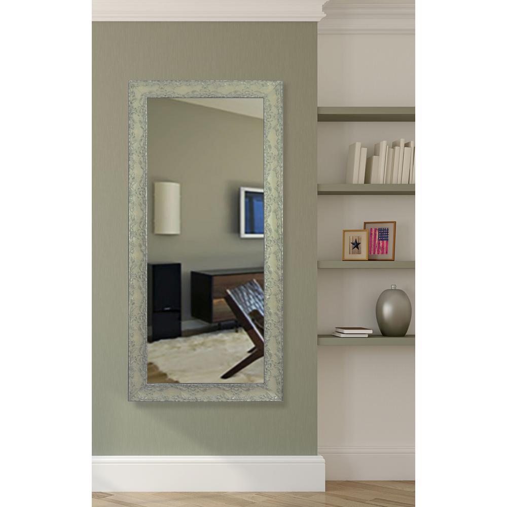 66 in. x 31 in. Maclaren Pewter Non Beveled Vanity Wall Mirror