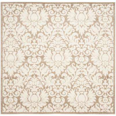Floral - Square - Square 1\'-6\' - Outdoor Rugs - Rugs - The Home Depot