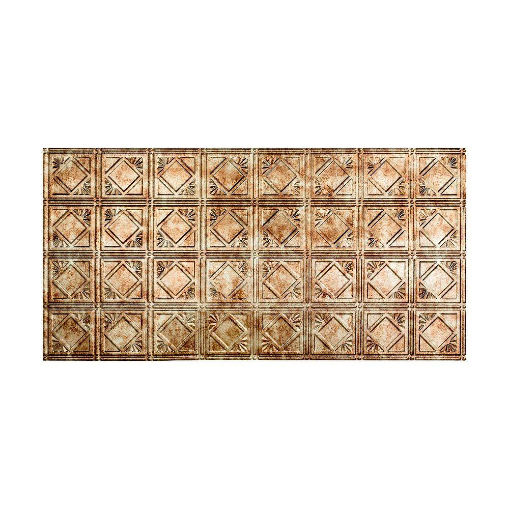 Fasade Traditional 4 - 2 ft. x 4 ft. Glue-up Ceiling Tile in Bermuda Bronze