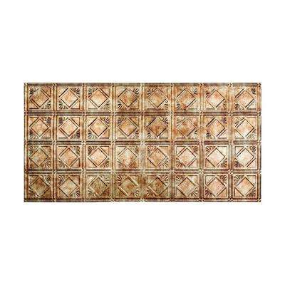 Traditional Style # 4 - 2 ft. x 4 ft. Vinyl Glue-Up Ceiling Tile in Bermuda Bronze