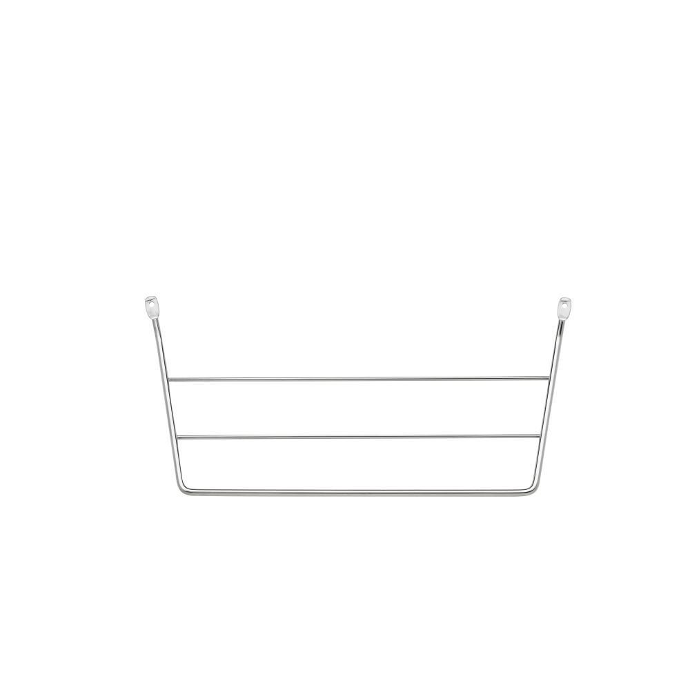 Rev-A-Shelf 6.5 in. H x 12.75 in. W x 3.5 in. D Chrome Cabinet Door Mount Towel Holder