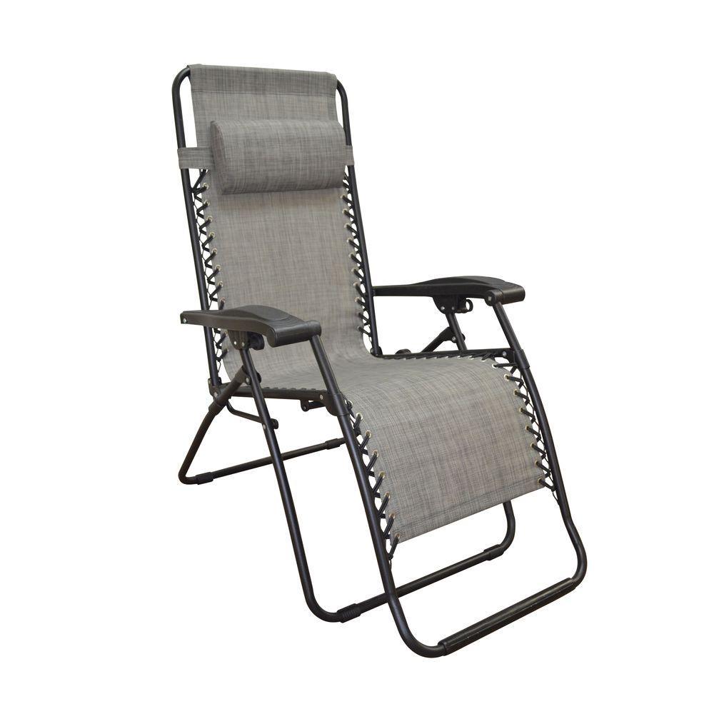 infinity grey zero gravity patio chair