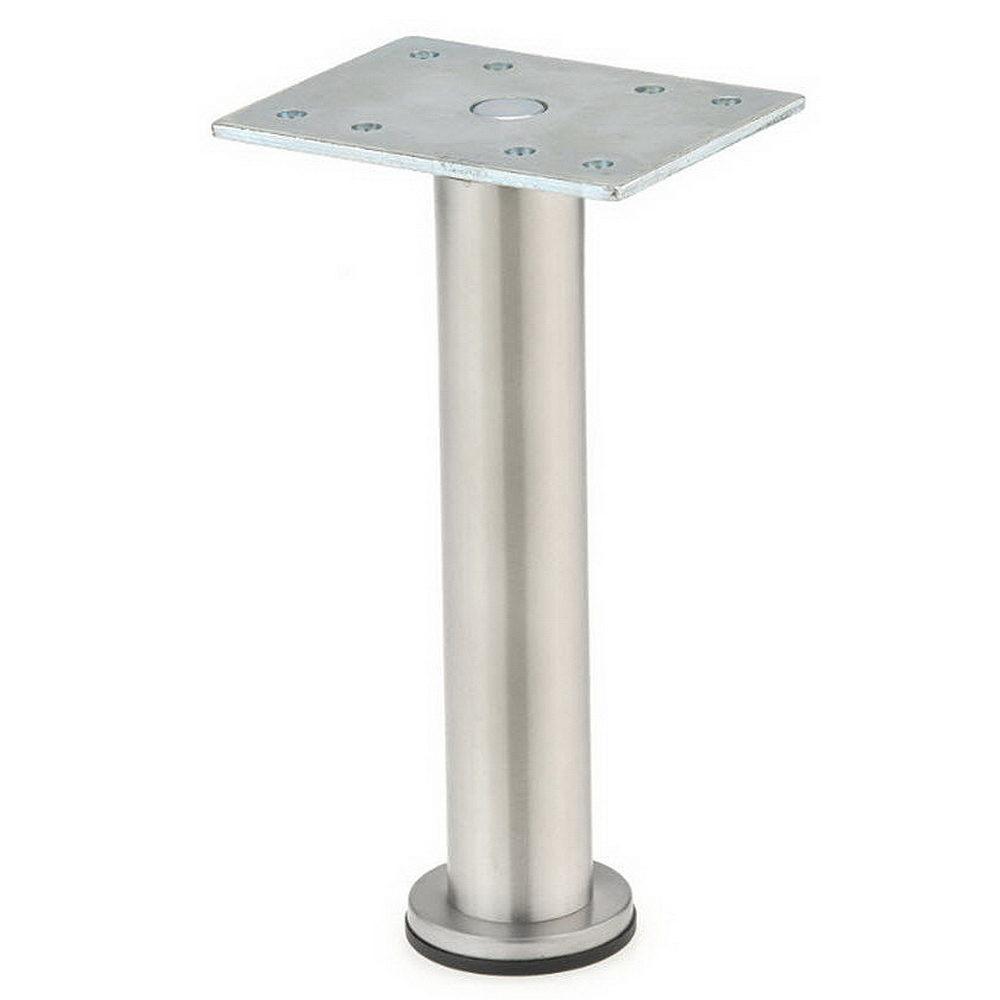 7-7/8 in. Stainless Steel Zinc Round Leg