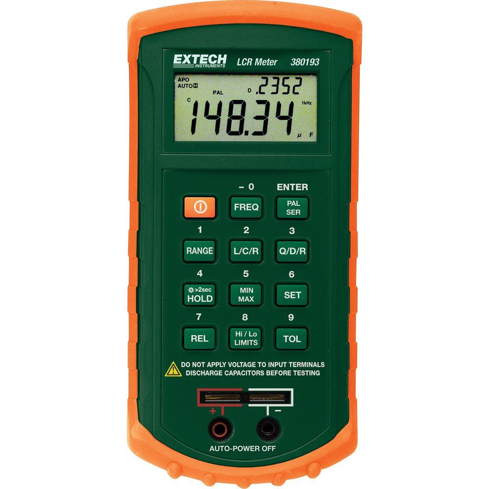 Extech Instruments Passive Component Lcr Meter 380193 The Home Depot Inductance Circuit