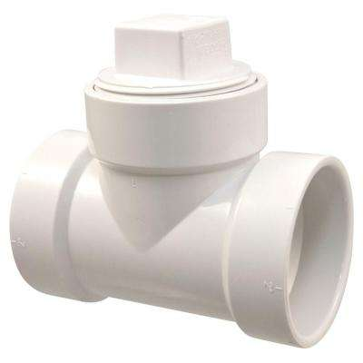 4 in. PVC DWV H x H x FPT Cleanout Plug Tee