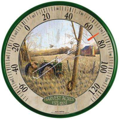 12.5 in. Harvest Acres Analog Thermometer
