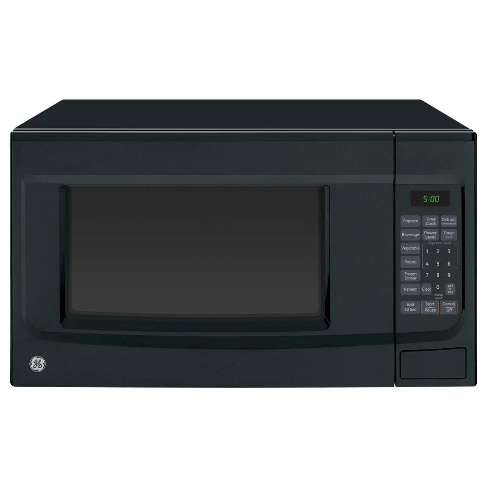 Ge 1 4 Cu Ft 1100 Watt Countertop Microwave In Black