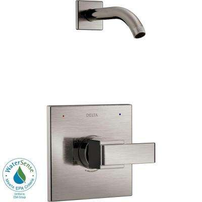 Ara 1-Handle Shower Faucet Trim Kit in Stainless with Less Showerhead (Valve Not Included)