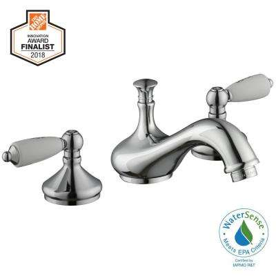 Teapot 8 in. Widespread 2-Handle Low-Arc Bathroom Faucet in Chrome