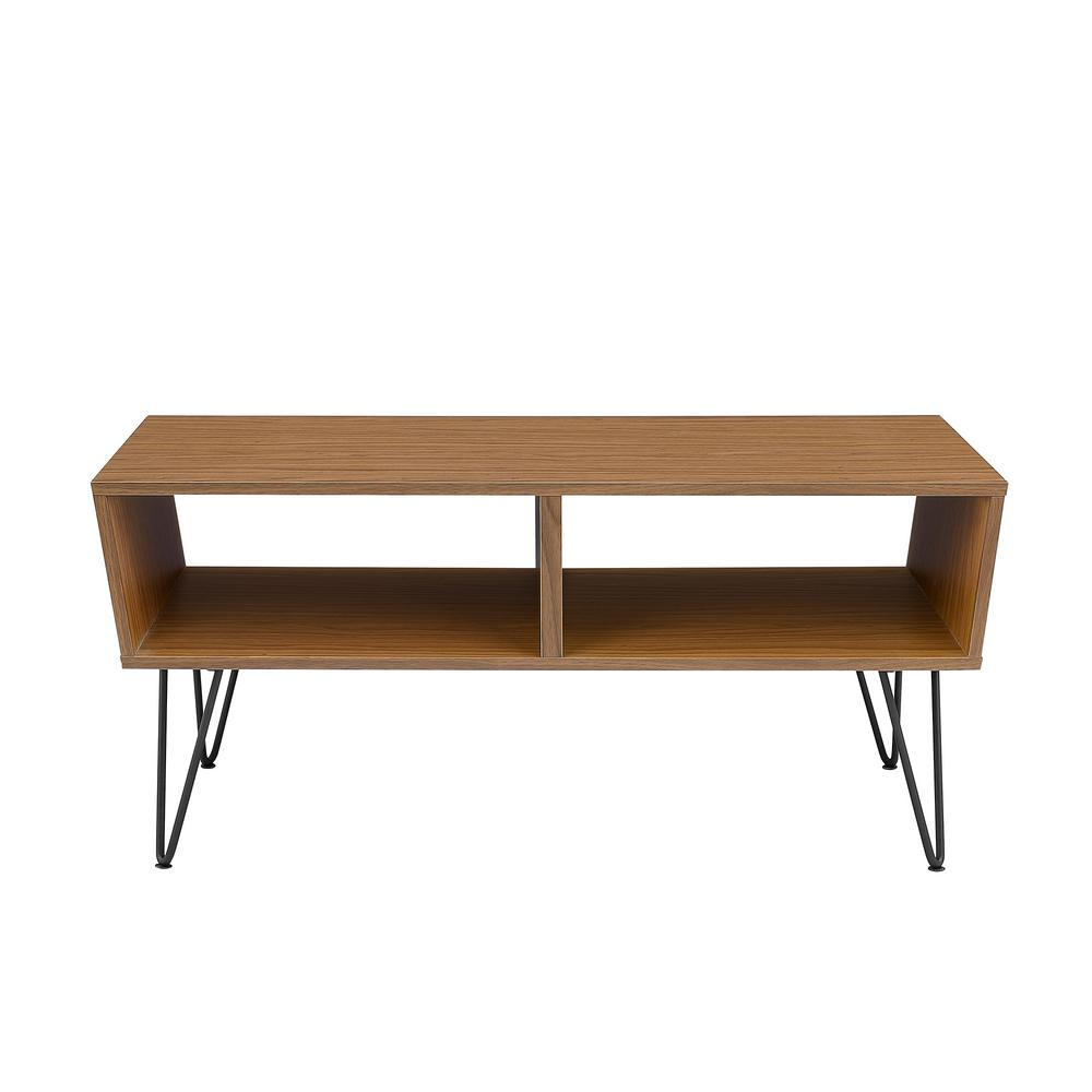 Coffee Table Angled Legs: Walker Edison Furniture Company 42 In. Acorn Angled Coffee