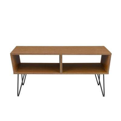 42 in. Acorn Angled Coffee Table with Hairpin Legs