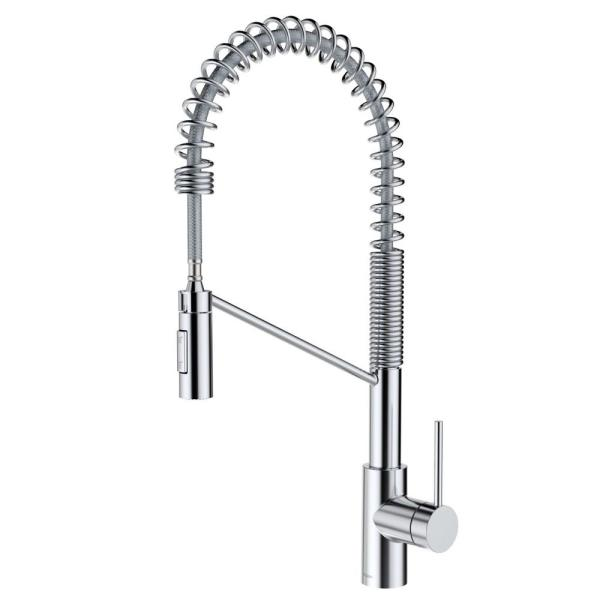 Oletto Single-Handle Pull-Down Sprayer Kitchen Faucet in Chrome