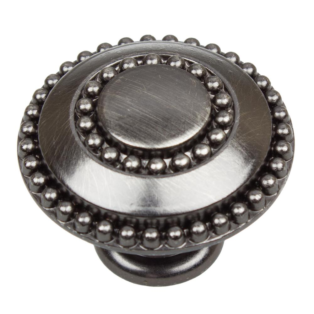 GlideRite 1-3/8 in. Dia Brushed Pewter Round Celtic Medallion Cabinet Knob (10-Pack)