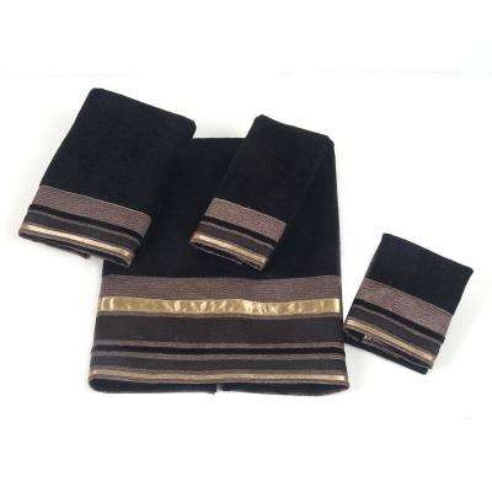 Geneva 4-Piece Bath Towel Set in Black