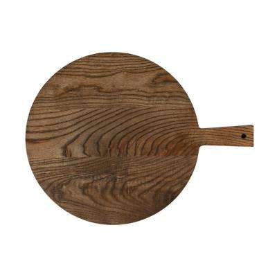 Elemental Porcelain Ash Paddle Round Board