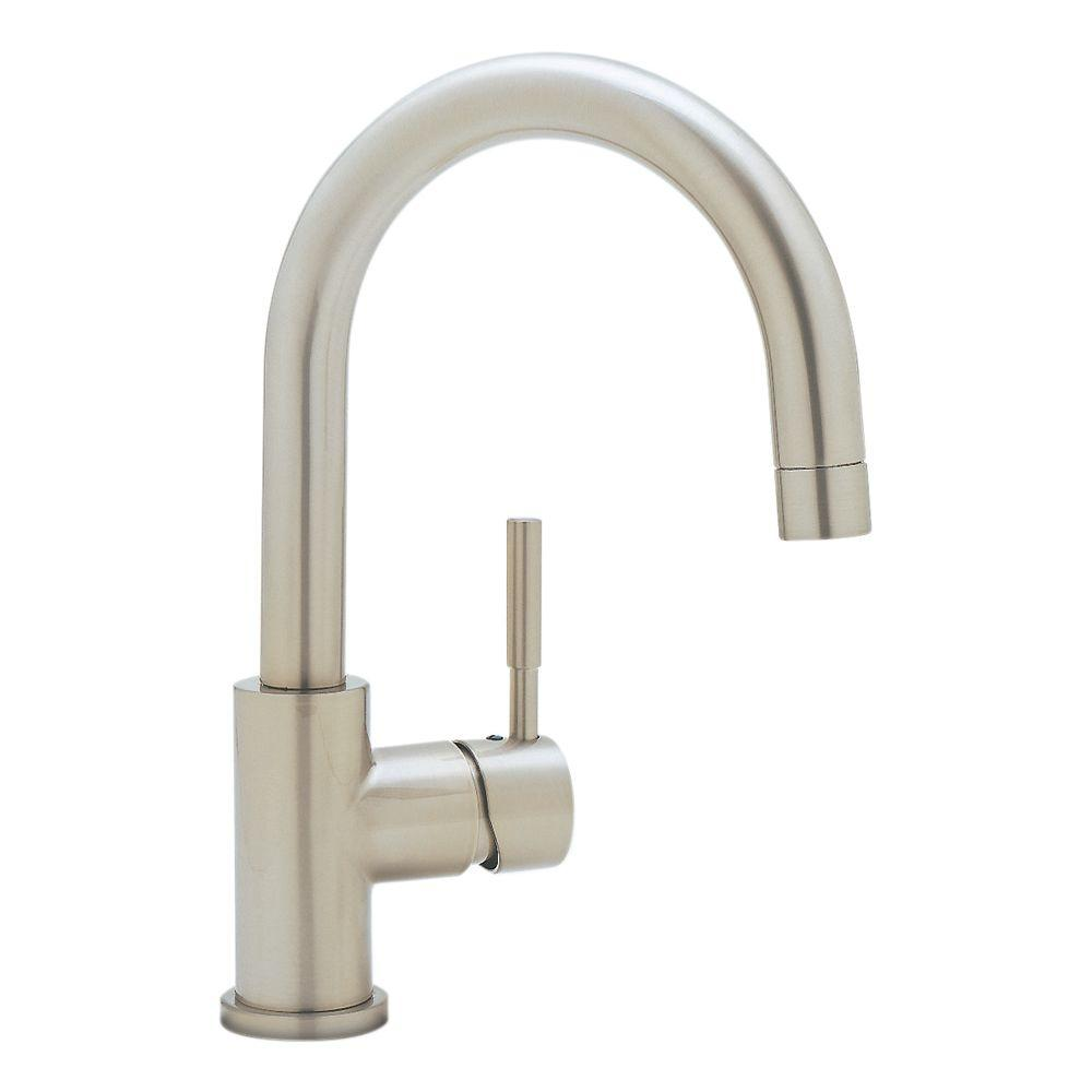 Meridian Single-Handle Bar Faucet in Satin Nickel