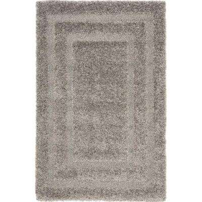 Florida Shag Gray 3 ft. x 5 ft. Area Rug