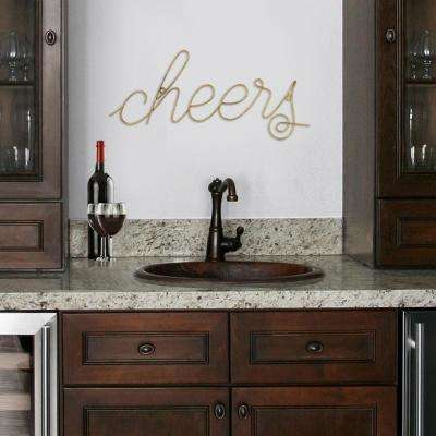 Cheers Wire Script Wall Art