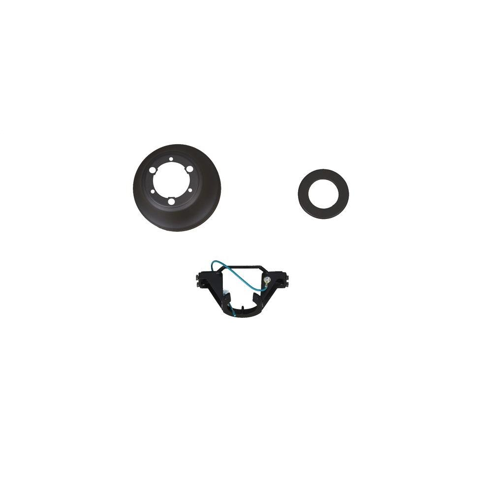 Brookhurst 52 in. Oil Rubbed Bronze Ceiling Fan Replacement Mounting Bracket and Canopy Set