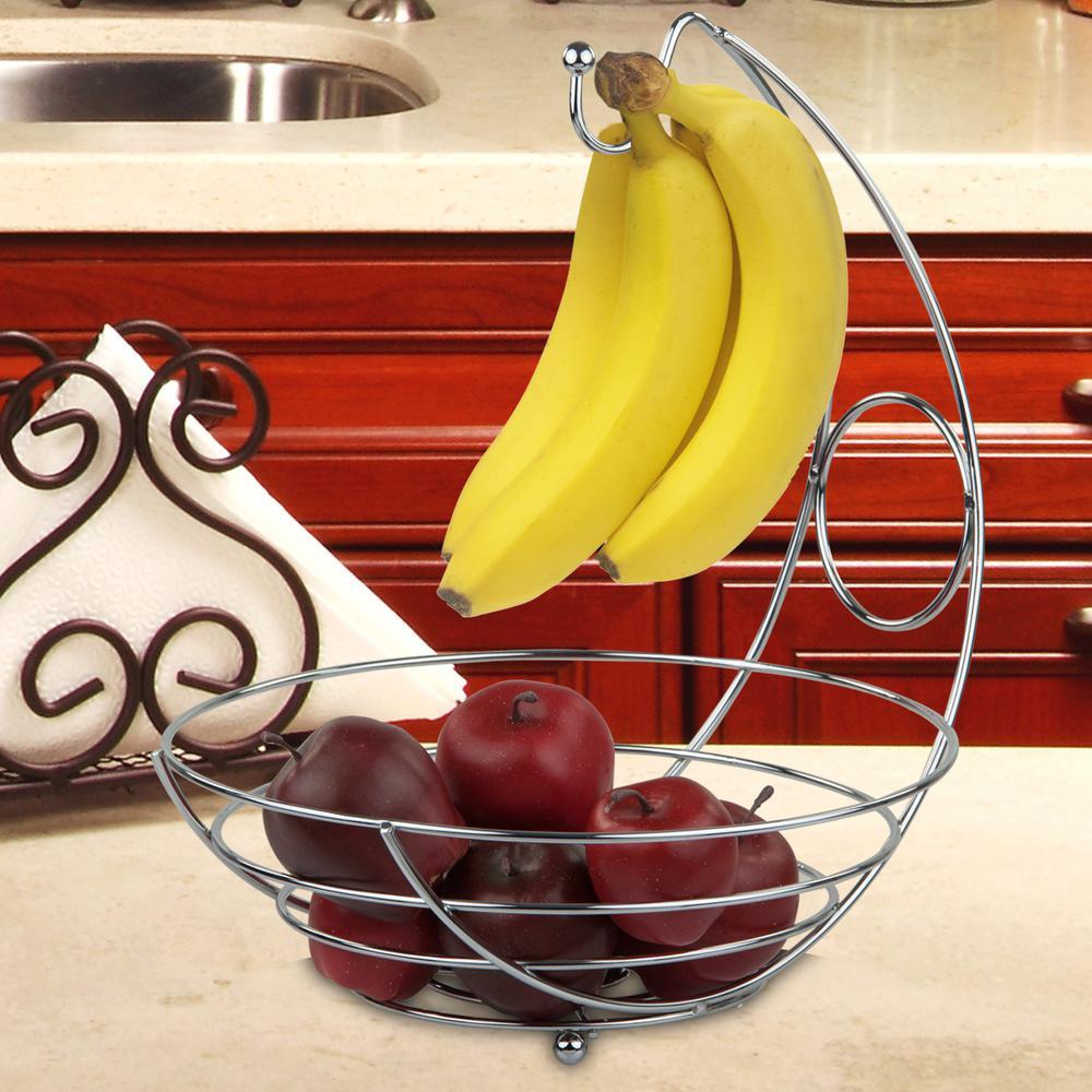Home Basics Fruit Basket with Banana Holder
