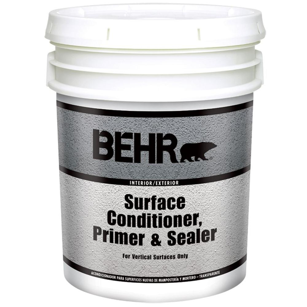 Behr premium plus 5 gal water based interior exterior surface conditioner primer and sealer for Behr exterior paint with primer reviews