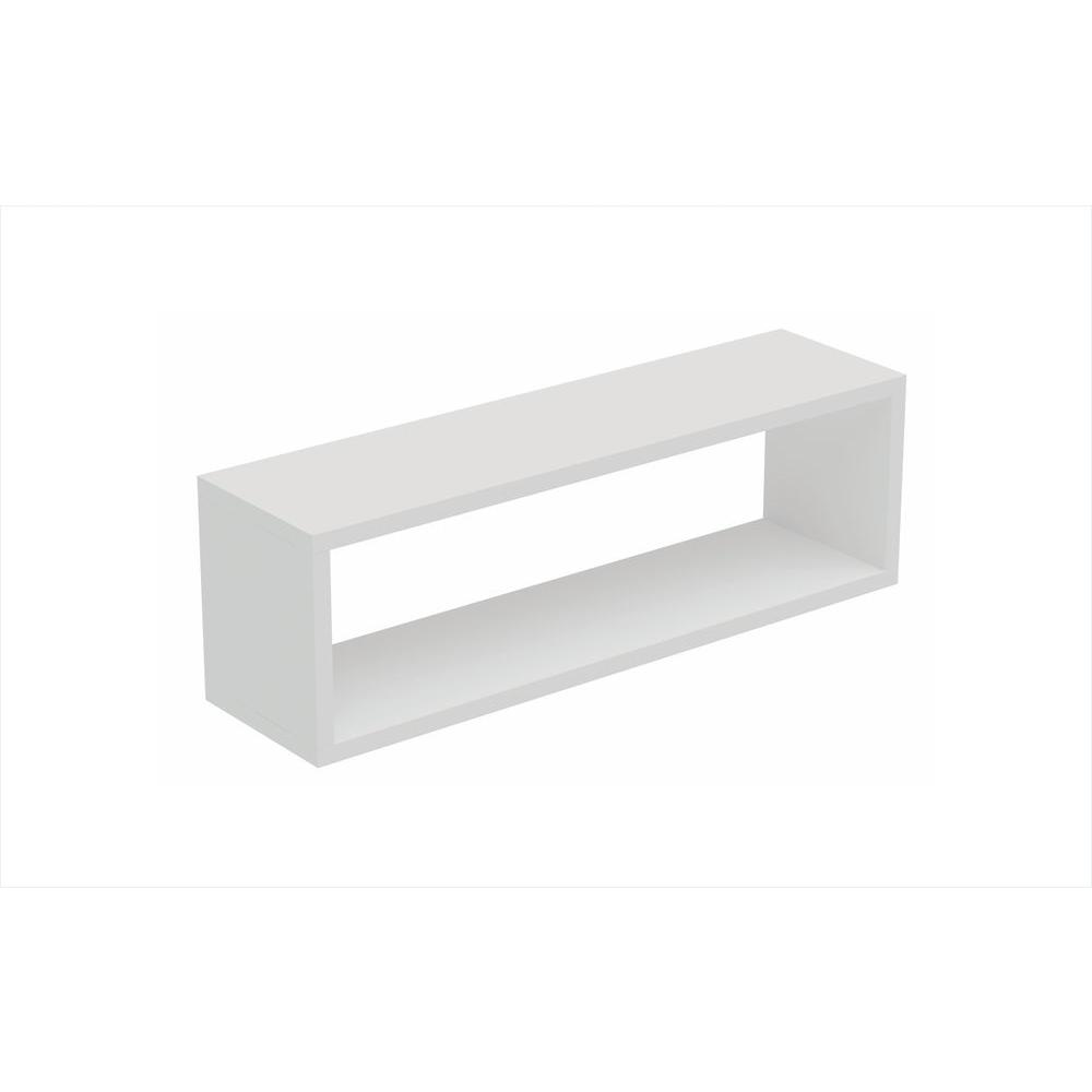 tichla 10 rectangle in w x 984 in d white decorative floating shelf