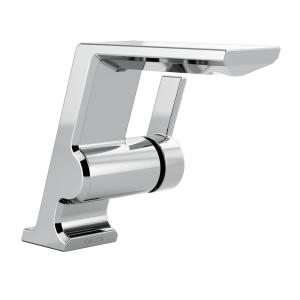 Pivotal Single Hole Single-Handle Bathroom Faucet in Chrome