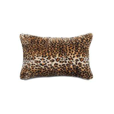 Belton Leopard 12 in. x 20 in. Faux Sheepskin Decorative Pillow