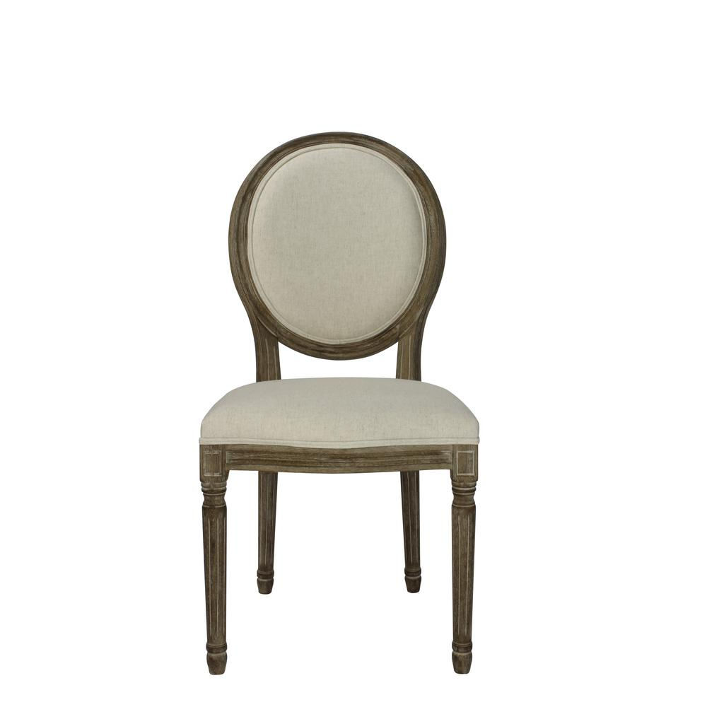 Round Back Dining Room Chairs: Indoor Stylish Chair Beige Wooden Round Back Dining Chair