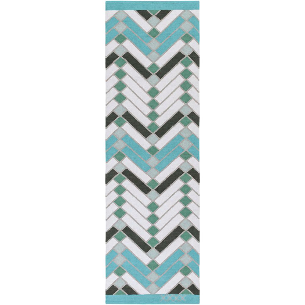 Home Decorators Collection Ethereal Aqua Sea 2 Ft. X 4 Ft