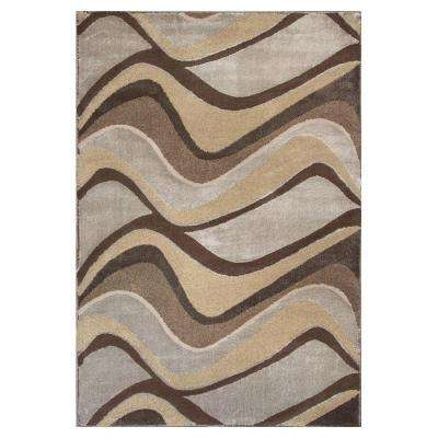 Metallic Visions Silver 3 ft. 3 in. x 4 ft. 11 in. Area Rug