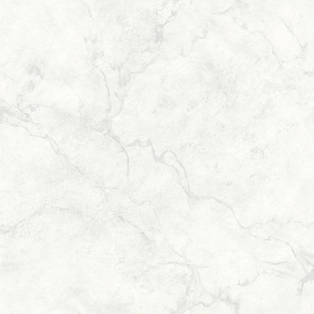 A-Street Innuendo White Marble Wallpaper Sample-2716 ...