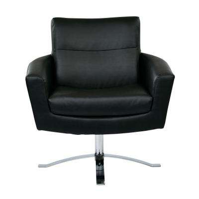 Nova Black Faux Leather Arm Chair