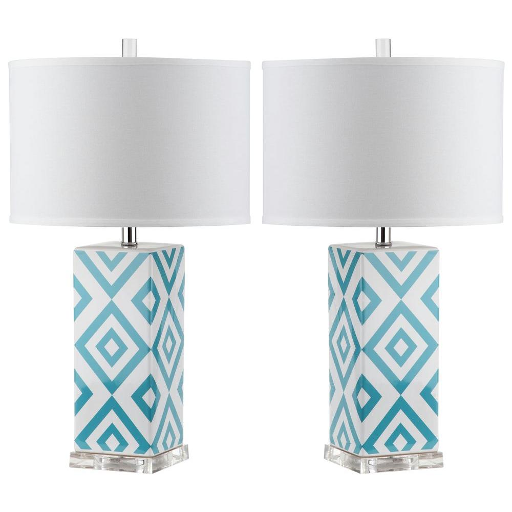 Light Blue Table Lamp (Set Of 2)