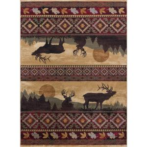 Nature Red 4 ft. x 5 ft. Indoor Area Rug
