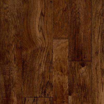 Take Home Sample - Multi-Width Hickory Plank Dark Vinyl Sheet - 6 in. x 9 in.