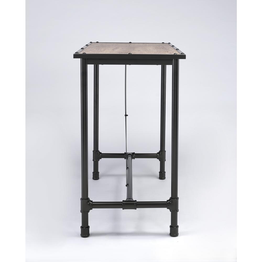 2 Acme Furniture Caitlin Rustic Oak Pub Bar Table