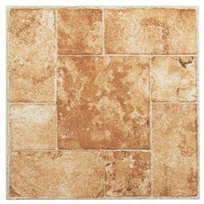 Nexus Beige 12 in. x 12 in. Peel and Stick Terracotta Vinyl Tile (20 sq. ft. / case)