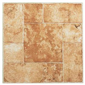 achim tivoli beige 12 in x 12 in peel and stick terracotta vinyl tile 45 sq ft case. Black Bedroom Furniture Sets. Home Design Ideas
