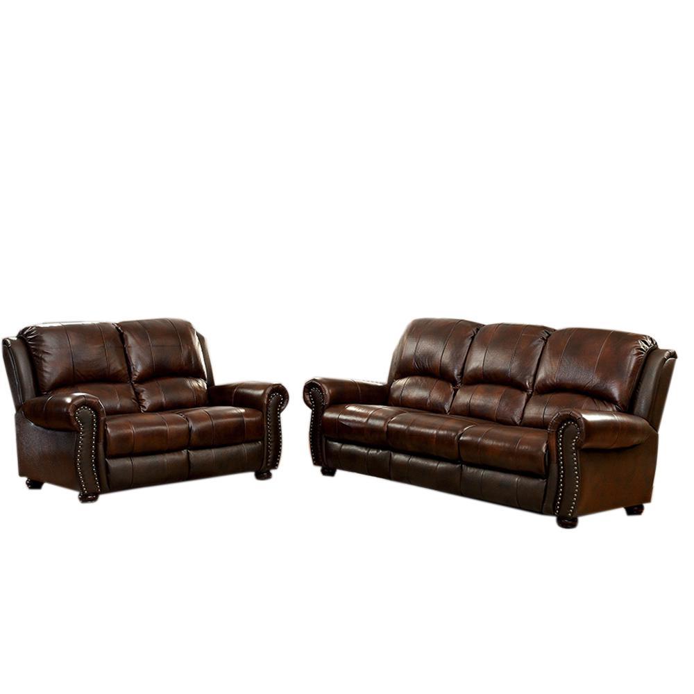 Turton 2-Piece Sofa Set in Brown