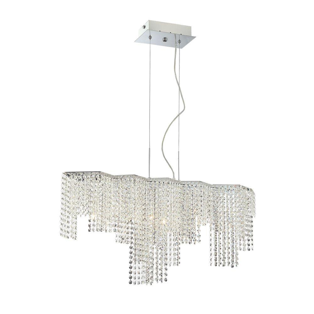 Eurofase Celestino Collection 9-Light Chrome and Clear Pendant_x000D_-DISCONTINUED