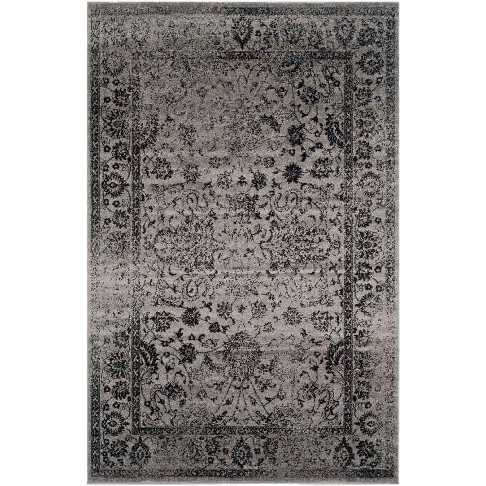 Adirondack Grey/Black 6 ft. x 9 ft. Area Rug
