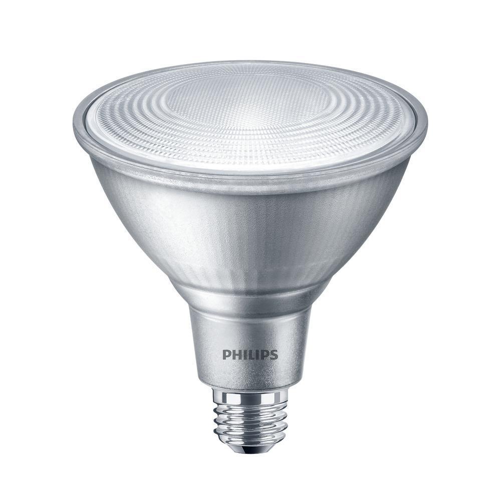 philips 90w equivalent bright white par38 led flood light bulb 2 pack 468017 the home depot. Black Bedroom Furniture Sets. Home Design Ideas