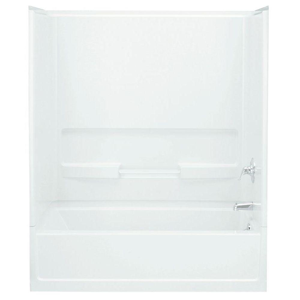 Advantage 29.375 in. x 56.25 in. 1-piece Direct-to-Stud Bath/Shower Right Wall