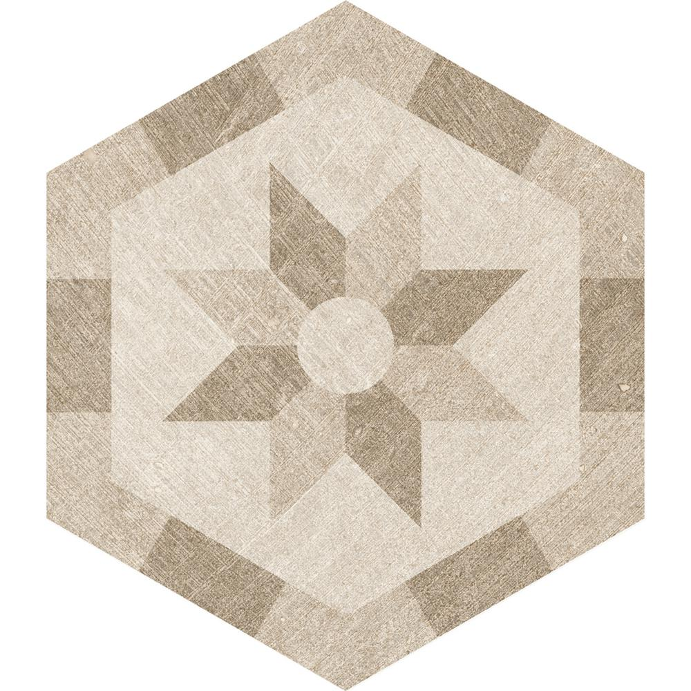 Rhone Dijon Hexagon Decorative 9.6 in. x 11 in. Matte Glazed