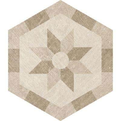 Rhone Dijon Hexagon Decorative 9.6 in. x 11 in. Matte Glazed Porcelain Floor and Wall Tile (9.25 sq. ft. / case)